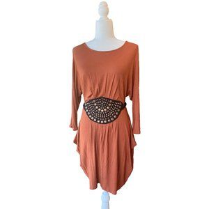 bebe Dolman Sleeve Dress with Attached Belt